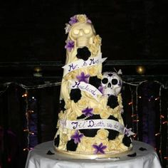 Till death parts us wedding cakes