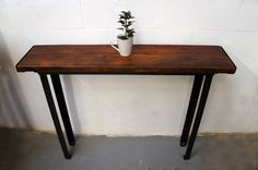 Vintage Industrial Console Table - Vintage Industrial Furniture