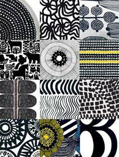 Risultati immagini per marimekko Motifs Textiles, Textile Patterns, Color Patterns, Print Patterns, Graphic Patterns, Zentangle, Scandinavian Pattern, Scandinavian Design, Scandinavian Fabric