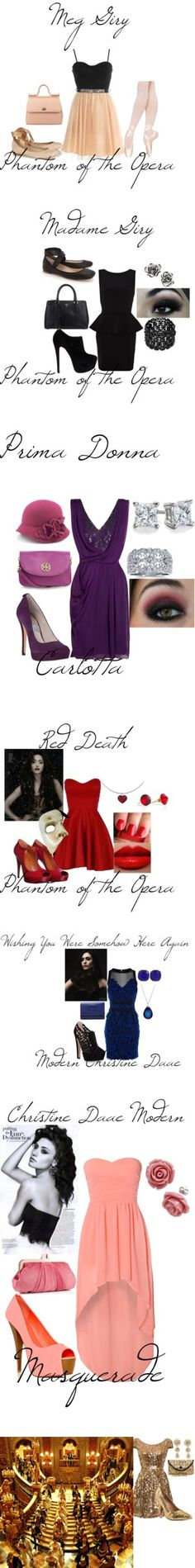"""Phantom of the Opera Modern"" by avarahebert ❤ liked on Polyvore"