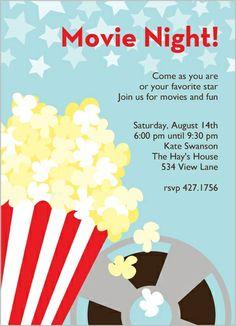 movie party invites