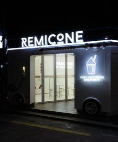 Remicone Ice cream flagship branding by YNL Design, Seoul   Korea branding branding