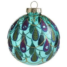 Love this Glass Peacock Feather Ornament from Peir 1 Imports ~ $4.95