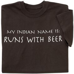 Runs With Beer T Shirt - Gifts & Accessories at Catalog Favorites
