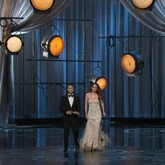GIF: Kristen Stewart Limps Across the Oscars Stage: Kristen Stewart took the Oscar stage next to Daniel Radcliffe tonight, despite her recent foot injury.   See the full animated GIF when youread more.