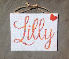 The Name Lilly Mosaic
