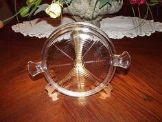 Pot Holder Clear Glass Vintage Art Deco Fire King Trivet Hot Pan Holder by 200WashingtonStreet on Etsy https://www.etsy.com/listing/242231247/pot-holder-clear-glass-vintage-art-deco