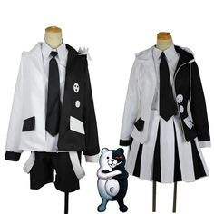 : The End Of Hope College Uniform Suit Cosplay Costumes Halloween , Cute Cosplay, Cosplay Dress, Cosplay Outfits, Anime Outfits, Fashion Outfits, Anime Cosplay, Kawaii Fashion, Lolita Fashion, Mode Emo