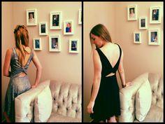 black and lurex dress