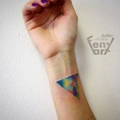 Or a triangle.   32 Cool And Colorful Tattoos That Will Inspire You To Get Inked