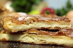Amateur Cook Professional Eater - Greek recipes cooked again and again: No eggs and no dairy Bougatsa Greek Recipes, Vegan Recipes, Cooking Recipes, Greek Meals, Cake Recipes, Greek Sweets, Puff Pastry Sheets, Oven Dishes, Sweet Pie