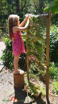 backyard nature weaving frame