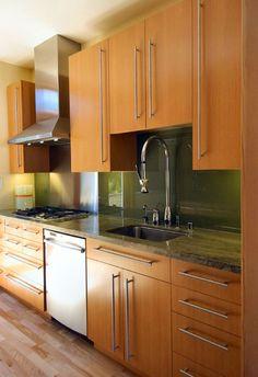 japanese kitchen interior of natural wood | kitchens & pantries