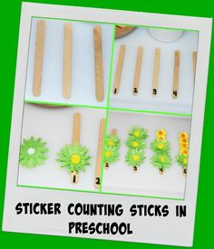 Sticker Counting Sticks in Preschool for Early Math