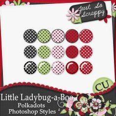Little Ladybug-a-Boo Polkadots Photoshop Styles