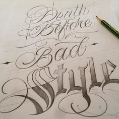 DEATH BEFORE BAD STYLE -----