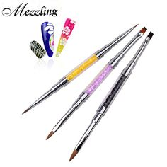 New 1pcs Professional Acrylic UV Gel Crystal Rhinestone Flat Painting Drawing Lines Brush Pen DIY Salon Nail Tools