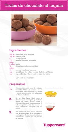 Trufas de chocolate al tequila ¡son diferentes y deliciosas! #Tupperware #Recetas