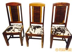"Dean could not bear to leave the old drab white linen upholstery on his chairs after we restored them. What else can we say apart from ""WOW!""  :D   http://renownedfurniture.com.au/restoration/deans-chairs/  #chair #furniture #renownedfurniture"