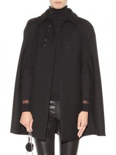 Shop Black Double Breasted Plain Cape from choies.com .Free shipping Worldwide.$39.99