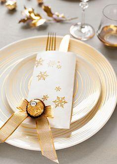 Dekorieren und Schenken mit den Pralinen von Ferrero - Tischdeko