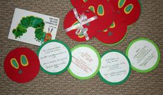 The V would be REALLY easy to do, especially with the cricut! @Michelle Aguirreiery Hungry Caterpillar (Eric Carle) invitations!hese