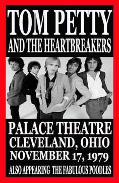 """Tom Petty Heartbreakers Concert Poster 1979 Cleveland Ohio • 100% Mint unused condition • Well discounted price + we combine shipping • Click on image for awesome view • Poster is 12"""" x 18"""" • Semi-Gloss Finish • Great Music Collectible - superb copy of original • Usually ships within 72 hours or less with > tracking. • Satisfaction guaranteed or your money back.  Sportsworldwest.com"""