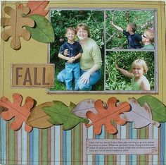 idea for fall scrapbook page