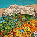Cangas de Praia Andreza Katsani por Andreza Katsani Painting, Art, Beach Quilt, Art Background, Painting Art, Kunst, Gcse Art, Paintings, Painted Canvas