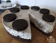 No bake Oreo cheesecake Oreo Cheesecake Recept, Easy No Bake Cheesecake, Good Food, Yummy Food, Cheesecakes, Cake Recipes, Tapas, Easy Meals, Goodies