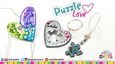 Puzzle Love Polymer Clay Tutorial / Rompecabezas de Arcilla Polimérica