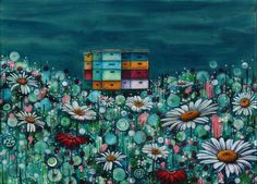 .....more lovely bees and flowers by Megan Collier