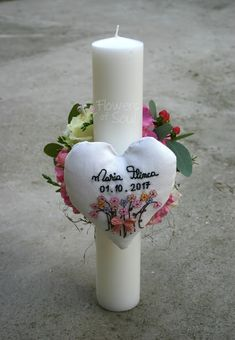 Flowers of Soul: Inima realizata si brodata manual Pillar Candles, Bouquet, Soap, Easter, Sweet, Flowers, Handmade, Boxes, Wedding