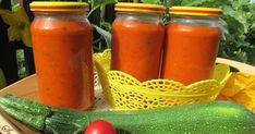 Wrzesień mamy ciepły i przyjemny, więc wciąż jeszcze robię przeciery z moich pysznych pomidorków koktajlowych, a przy okazji szukam ... Ketchup, Hot Sauce Bottles, Preserves, Zucchini, Carrots, Food And Drink, Stuffed Peppers, Vegetables, Cooking