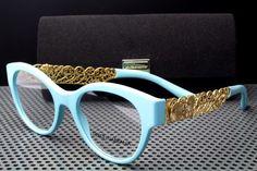 New Dolce  amp  Gabbana DG 3184 Eyeglasses Frames Powder Blue 2586  Authentic 50mm  DolceGabbana e3e7b2385098