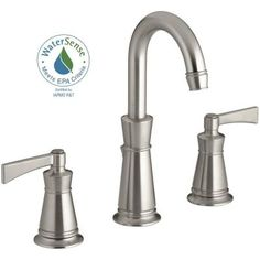 KOHLER Archer 8 in. Widespread 2-Handle Mid-Arc Bathroom Faucet in Vibrant Brushed Nickel - K-11076-4-BN - The Home Depot