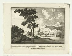 A view of Boppard and the river Rijn. Pieter Schenk.  1695-1705