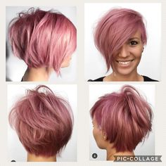 I like the long side best - neue Frisur - Cheveux Short Hair Cuts, Short Hair Styles, Biolage Hair, Short Bob Hairstyles, Men's Hairstyles, Formal Hairstyles, Wedding Hairstyles, Corte Y Color, Edgy Hair