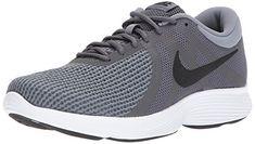 reputable site d71ac 9fdf8 NIKE Men s Revolution 4 Running Shoe, Dark Grey Black-Cool Grey White