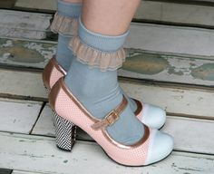 Shoes = adorable...  but need to lose the socks!  lol
