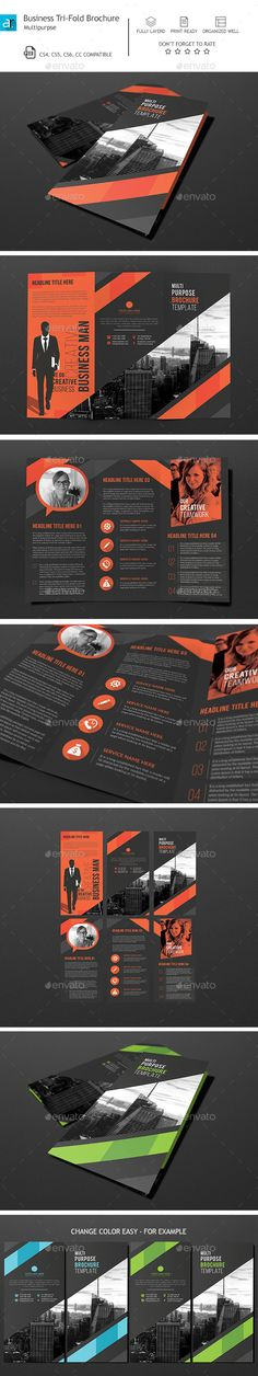Tri Fold Brochure  Template Brochure Template And Brochures
