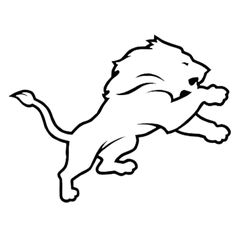Detroit Lions NFL Die Cut Vinyl Decal for Windows, Vehicle Windows, Vehicle Body Surfaces or just about any surface that is smooth and clean Car Decals, Vinyl Decals, Lion Silhouette, Detroit Lions Logo, Lion Painting, Image Font, Monogram Stickers, Lion Logo, Lion Tattoo