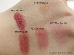 Revlon Lip Butters: Cotton Candy, Macaroon & Peach Parfait [Photos & Swatches]