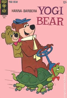 Yogi Bear series) in Fine + condition. Comics Vintage, Vintage Cartoons, Posters Vintage, Vintage Comic Books, Classic Comics, Classic Cartoons, Best Comic Books, Cartoon Posters, Favorite Cartoon Character