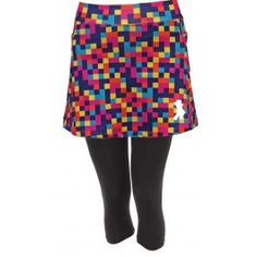 Colorblock Capri Skirt
