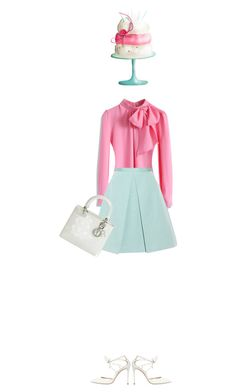 """""""Happy Brithday to Me"""" by polylana ❤ liked on Polyvore featuring мода, Chicwish, TIBI, Christian Dior и Casadei"""