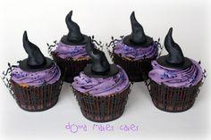 @KatieSheaDesign ♡❤ #CupCakes ❤♡ ♥ ❥ Witch Hat Cupcakes