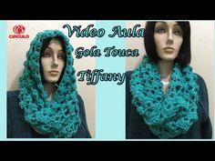 Gola Capuz em Crochê Gisele - Aprendendo Crochê - YouTube