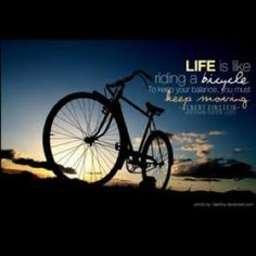 Life is like riding a bicycle. To keep your balance, you must keep moving. - Albert Einstein things-i-love personal-development Virginia Woolf, Bicycle Wallpaper, Bicycle Pictures, Riding Quotes, Digital Photography School, Photography Challenge, Photography Tips, Exposure Photography, Photography Tutorials