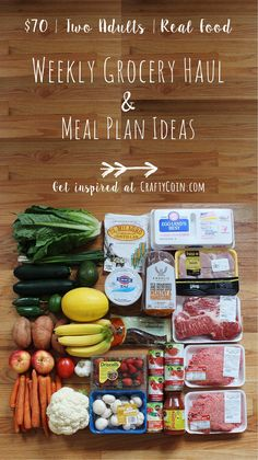 How to Eat Healthy on a Budget - Crafty Coin Real Food Grocery Haul + Meal Plan Ideas Healthy Meal Prep, Healthy Snacks, Healthy Cheap Meals, Healthy Family Meal Plans, Budget Healthy Grocery List, Healthy Meal Planning, How To Eat Healthy, Simple Grocery List, Meal Prep Grocery List